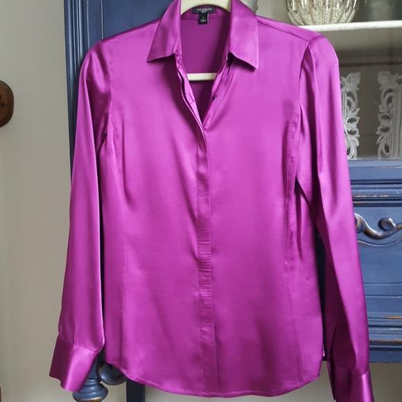 70ae9498237195 Ann Taylor Tops - ANN TAYLOR SILK LEGACY Blouse Purple size 2